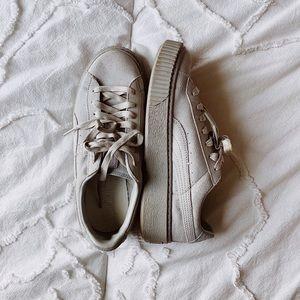 Puma platform reset gray sneaker